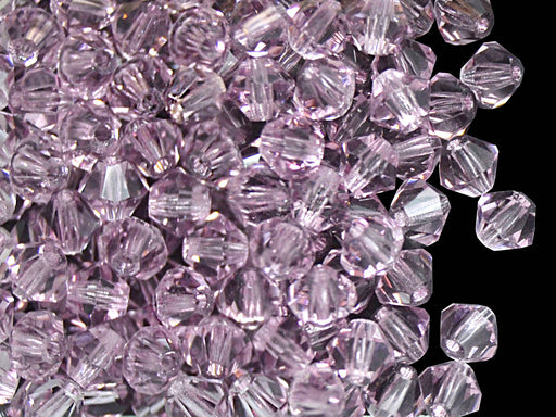 30 pcs MC Rondell Bicone Beads, 4mm, Light Amethyst, Czech Glass