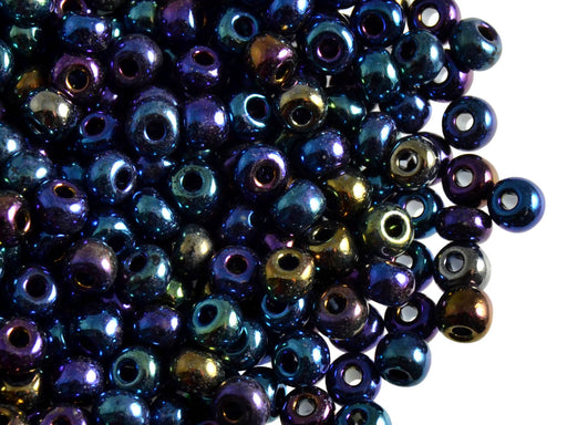 20 g 4/0 Seed Beads Preciosa Ornela, Blue Iris, Czech Glass