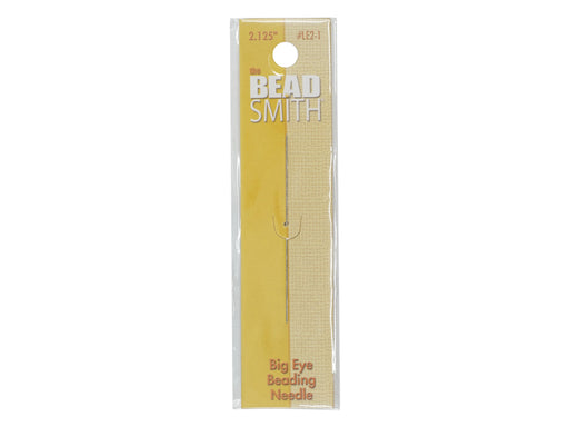 1 pc Big Eye Beading Needle LE2-1 2.125 inch 0.55x55 mm, Metal