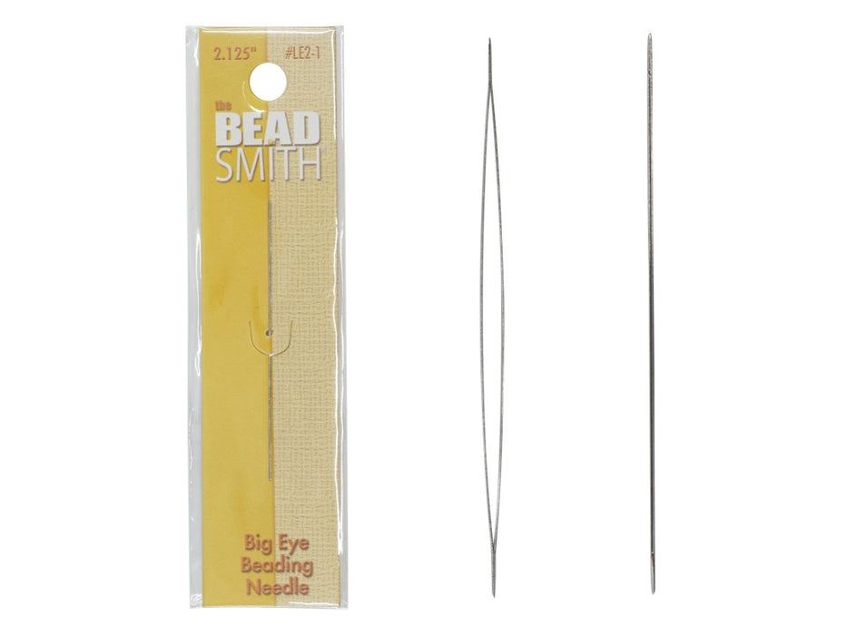 Big Eye Beading Needle LE2-1 2.125 inch 0.55x55 mm, Metal