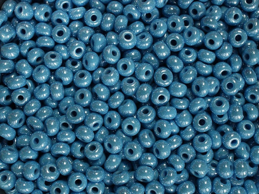 20 g 5/0 Seed Beads Preciosa Ornela, Opaque Blue Luster, Czech Glass