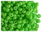 20 g 5/0 Seed Beads Preciosa Ornela, NEON Green Opaque, Czech Glass