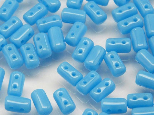 20 g 2-hole Rulla™ Seed Beads, 3x5mm, Opaque Turquoise Blue, Czech Glass