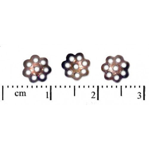 10 pcs Bead Cap, 6mm, Copper