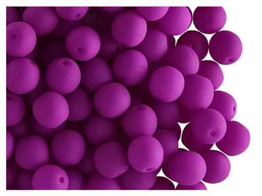 50 pcs Round NEON ESTRELA Beads, 6mm, Purple, Czech Glass