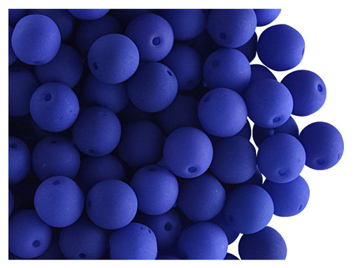 50 pcs Round NEON ESTRELA Beads, 6mm, Dark Blue, Czech Glass