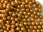 50 pcs Round Pearl Beads, 6mm, Bronze Pearl, Czech Glass