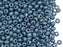 20 g 6/0 Seed Beads Preciosa Ornela, Chalk White Baby Blue Luster, Czech Glass