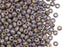20 g 6/0 Seed Beads Preciosa Ornela, Chalk White Lila Gold Luster, Czech Glass