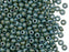 20 g 6/0 Seed Beads Preciosa Ornela, Chalk White Blue Luster, Czech Glass