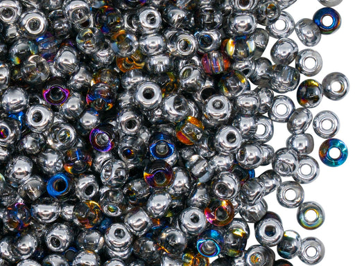 Rocailles Seed Beads 6/0, Crystal Orion, Czech Glass
