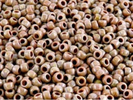 10 g 8/0 Seed Beads MATUBO, Lilac Alabaster Travertine Dark, Czech Glass