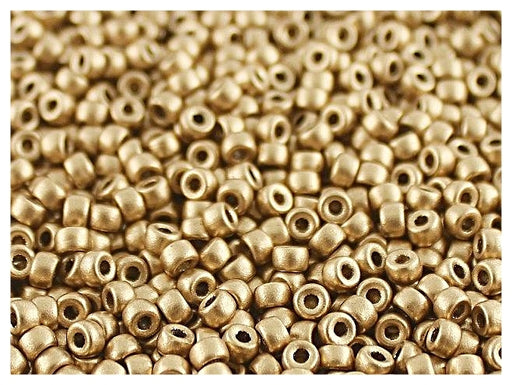 10 g 7/0 Seed Beads MATUBO, Aztec Gold, Czech Glass