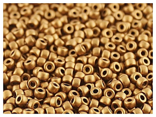 10 g 7/0 Seed Beads MATUBO, Crystal Bronze Gold, Czech Glass