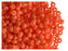 20 g 7/0 Seed Beads Preciosa Ornela, NEON Orange Opaque, Czech Glass