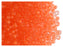 20 g 7/0 Seed Beads Preciosa Ornela, NEON Orange Matte, Czech Glass