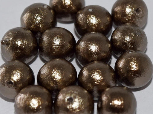 Cotton Pearls 8 mm, Bronze, Miyuki Japanese Beads