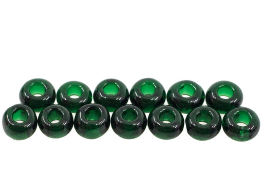10 g 1-Cut Charlotte Beads Preciosa Ornela 8/0, Dark Green Transparent, Czech Glass