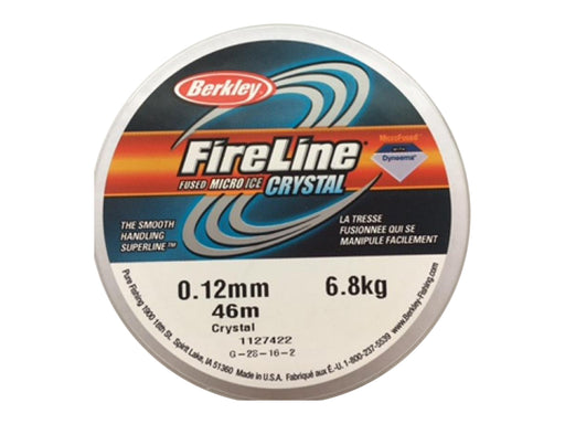 1 pc Beadsmith Fireline 0.12mm Average Diameter, 46m (50YD), Crystal Clear