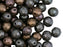 25 pcs Fire Polished Faceted Beads Round, 8mm, Gray Rainbow Matte, Czech Glass