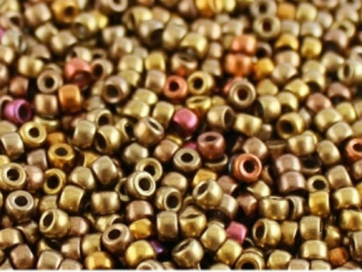 10 g 8/0 Seed Beads MATUBO, Crystal Gold Rainbow, Czech Glass