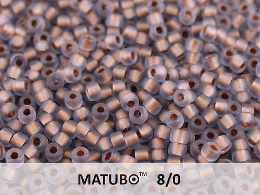 10 g 8/0 Seed Beads MATUBO, Tanzanite Ice Bronze Lined, Czech Glass