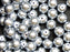 30 pcs Round Pearl Beads, 8mm, Gray Pearl, Czech Glass