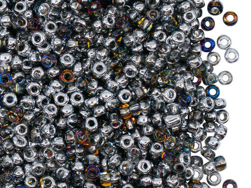 Rocailles Seed Beads 8/0, Crystal Orion, Czech Glass