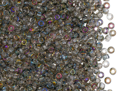 Rocailles Seed Beads 8/0, Crystal Kalipo, Czech Glass