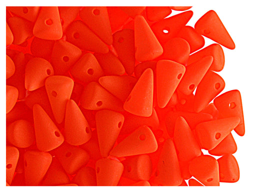 20 pcs Spike Small Beads, 5x8mm, NEON Orange, Czech Glass