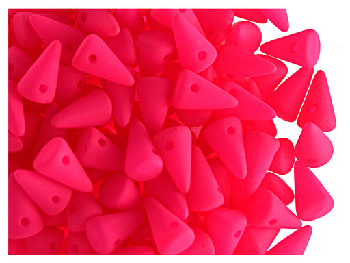 20 pcs Spike Small Beads, 5x8mm, NEON Pink, Czech Glass