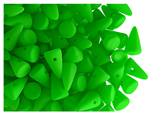 20 pcs Spike Small Beads, 5x8mm, NEON Green, Czech Glass