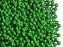 20 g 8/0 Seed Beads Preciosa Ornela, Green Opaque, Czech Glass