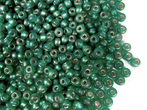 20 g 8/0 Seed Beads Preciosa Ornela, Blue Zircon Transparent Matte Iris, Czech Glass