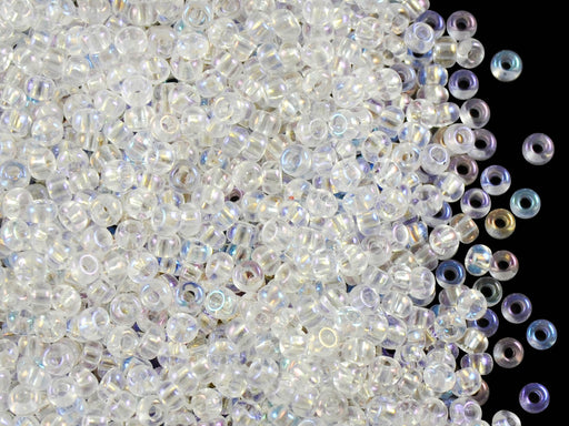 20 g 9/0 Seed Beads Preciosa Ornela, Crystal AB, Czech Glass