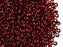 20 g 9/0 Seed Beads Preciosa Ornela, Dark Red Transparent Silver Lined, Czech Glass