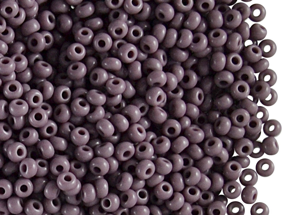 20 g 9/0 Seed Beads Preciosa Ornela, Opaque Light Lilac, Czech Glass
