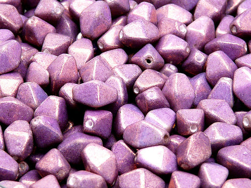 30 pcs Bicone Lantern Pressed Beads, 10x8mm, Chalk Vega Luster, Czech Glass