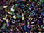 Bugle 1.6x1.6 mm Purple Iris Metallic Czech Glass Purple Multicolored