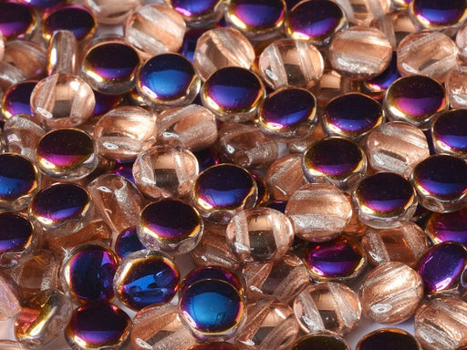 50 pcs 50 pcs DiscDuo® 6x4 mm 2 Holes Crystal Sliperit Czech Glass Blue Orange Multicolored