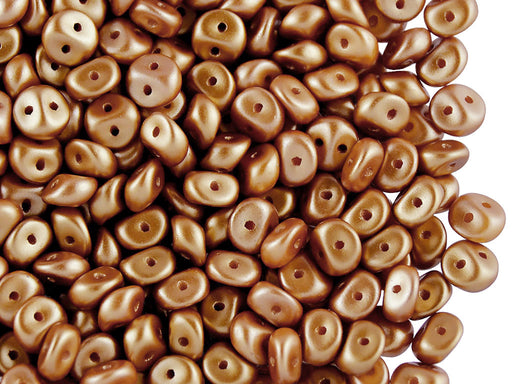 50 pcs 2-hole Es O® Beads ESTRELA, 5mm, Alabaster Pastel Amber, Czech Glass