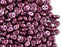50 pcs 2-hole Es O® Beads ESTRELA, 5mm, Alabaster Pastel Burgundy, Czech Glass