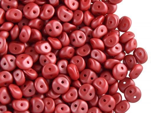 50 pcs 2-hole Es O® Beads ESTRELA, 5mm, Alabaster Powder Coral, Czech Glass