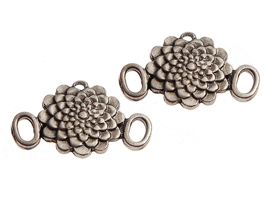 1 pc Connector Charm, 25x16mm, Antique Silver