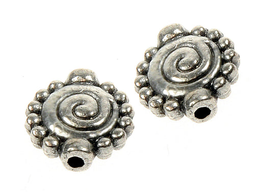 1 pc Connector Charm, 10x10mm, Antique Silver