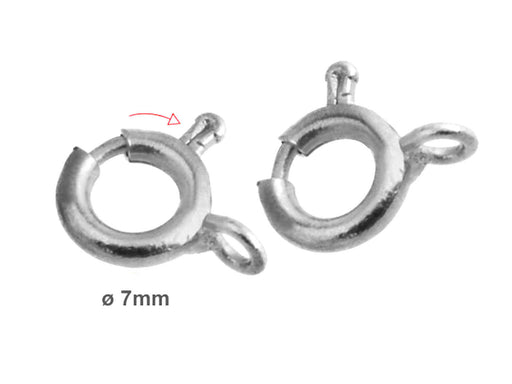 1 pc Spring Clasp, 7mm, Platinum Plated