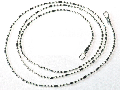 1 pc Chain with Clasp, 45cm (17.7inch), Silver Plated