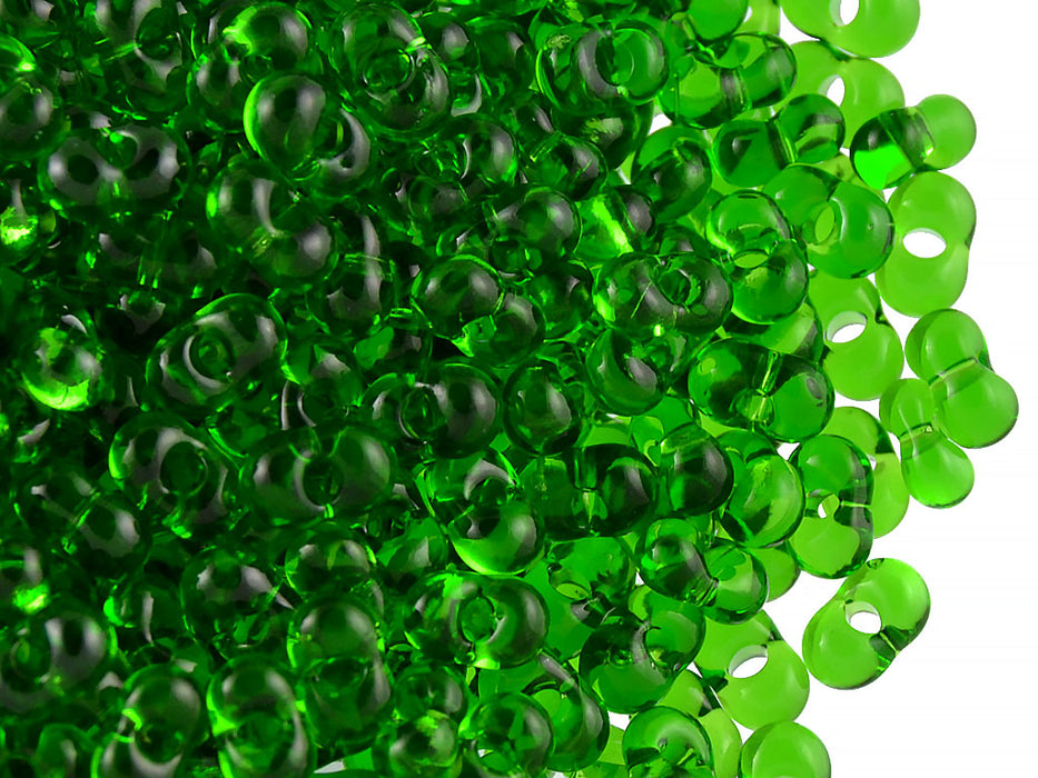 20 g Farfalle™ Beads Preciosa Ornela, 3.2x6.5mm, Chrysolite ( Green Transparent), Czech Glass