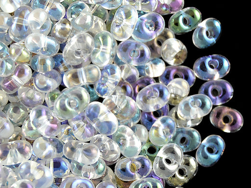 20 g Farfalle™ Beads Preciosa Ornela, 3.2x6.5mm, Crystal AB, Czech Glass