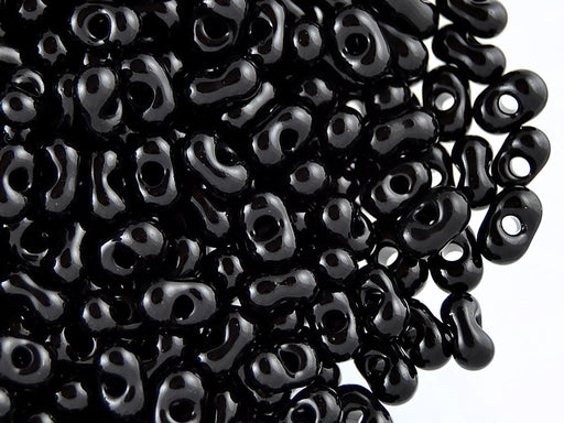 20 g Farfalle™ Beads Preciosa Ornela, 3.2x6.5mm, Jet Black, Czech Glass